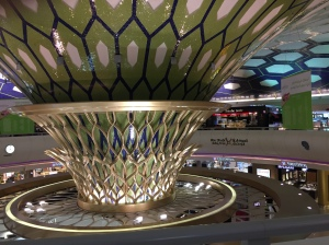 Abu Dhabi was a very nice airport.